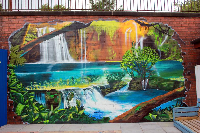 Garden Wall Graffiti Street Art Murals